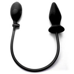 OUCH! INFLATABLE SILICONE ANAL PLUG BLACK