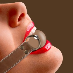 OUCH! SOLID BALL GAG PREMIUM BROWN