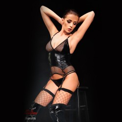 DEMONIQ MISTRESS COLLECTION AGATHE CORSET AND THONG