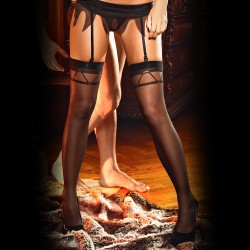 THIGH HIGH STOCKINGS 1377 BACI BLACK