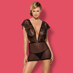 OBSESSIVE MEROSSA CHEMISE AND THONG