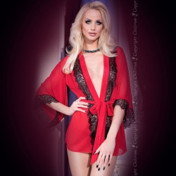ROBE AND THONG CR-4113 RED