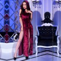 DRESS AND PANTY CR-4302 BORDEAUX