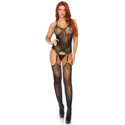 BODYSTOCKING WITH GARTER EFFECT
