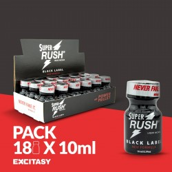 PACK WITH 18 SUPER RUSH BLACK LABEL 10ML