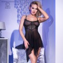 CR-4370 BABYDOLL AND THONG BLACK