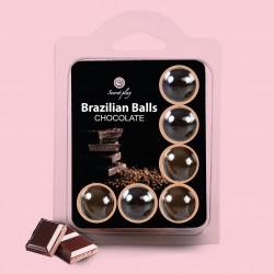 KISSABLE LUBRICANT BALLS CHOCOLATE FLAVOUR 6 x 4GR