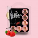 KISSABLE LUBRICANT BALLS STRAWBERRY CHAMPAGNE FLAVOUR 6 x 4GR