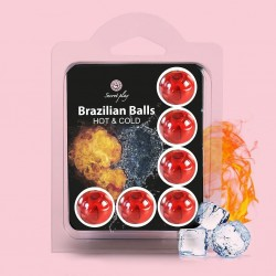 BRAZILIAN LUBRICANT BALLS HOT AND COLD EFFECT 6 x 4GR