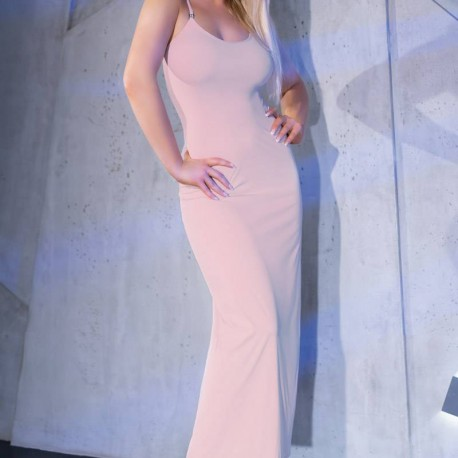 CR-4379 DRESS AND THONG NUDE